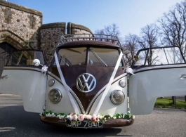 Classic Campervan for wedding hire in Arundel